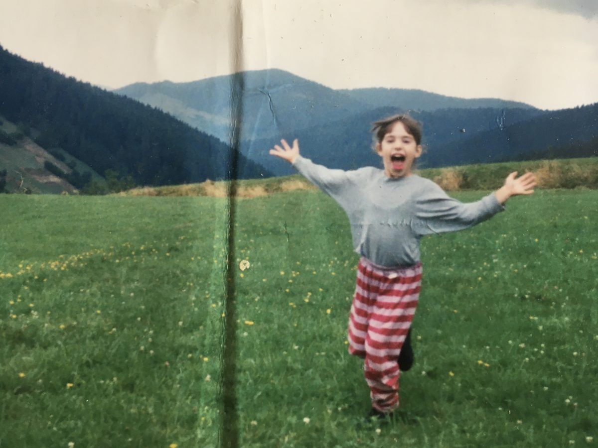 toto som ja počas môjho detstva. Takto som sa cítila vždy v prírode a medzi príbehmi